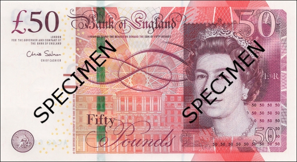 Bank of England 50 Pound