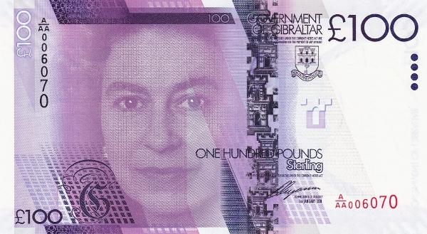 gibraltars 100 pound note