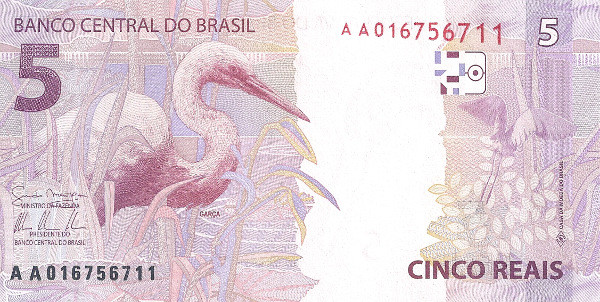 BRA 5 Back International Bank Note Society (IBNS) Banknote of 2013   Nominations