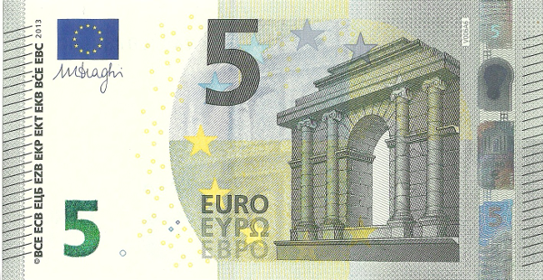 european monetary union 5 euro note. Black Bedroom Furniture Sets. Home Design Ideas